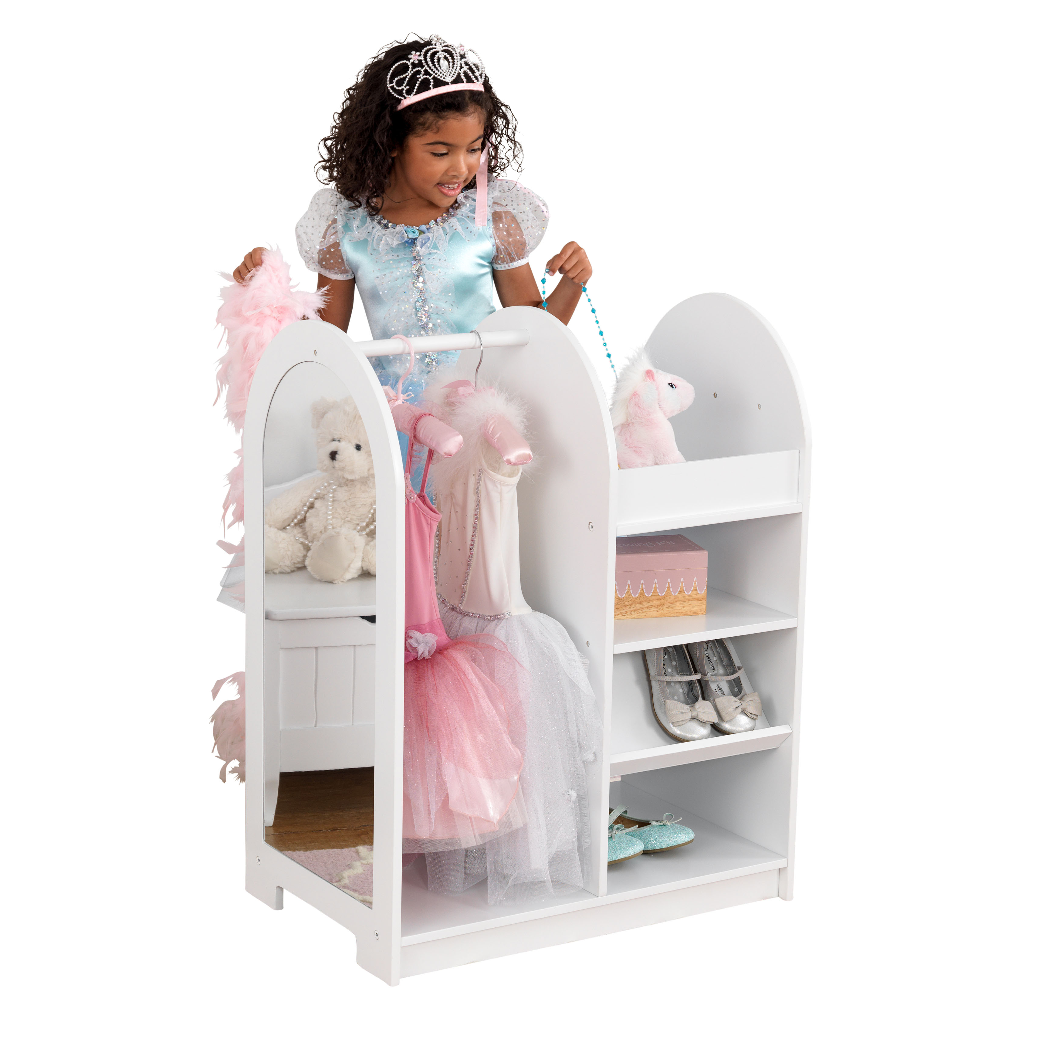 ... White KidKraft Letu0027s Play Dress Up Unit, White