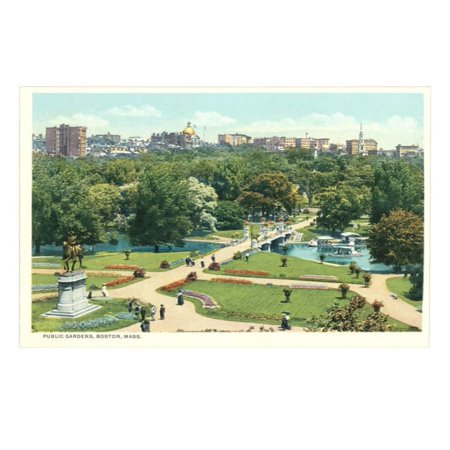 - Public Garden, Boston, Massachusetts Print Wall Art