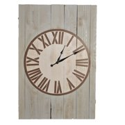 Brandtworks Weathered Matthew 48 inch x 32.5 inch Oversized Wall Clock