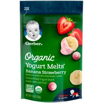 Baby & Toddler Snacks: Gerber Organic Yogurt Melts