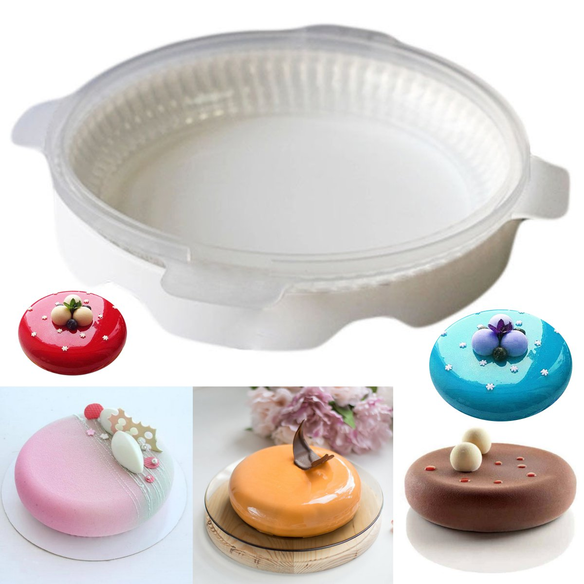 Click here to buy Meigar Eclipse Silicone Cake Mold For Mousses Ice Cream Chiffon Baking Decorating Tools.