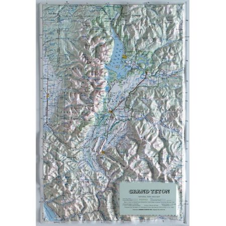 hubbard scientific raised relief map 406 grand teton national park