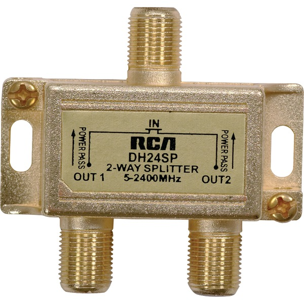 RCA(R) DH24SPF 3GHz Digital Plus 2-Way Splitter - image 1 of 1