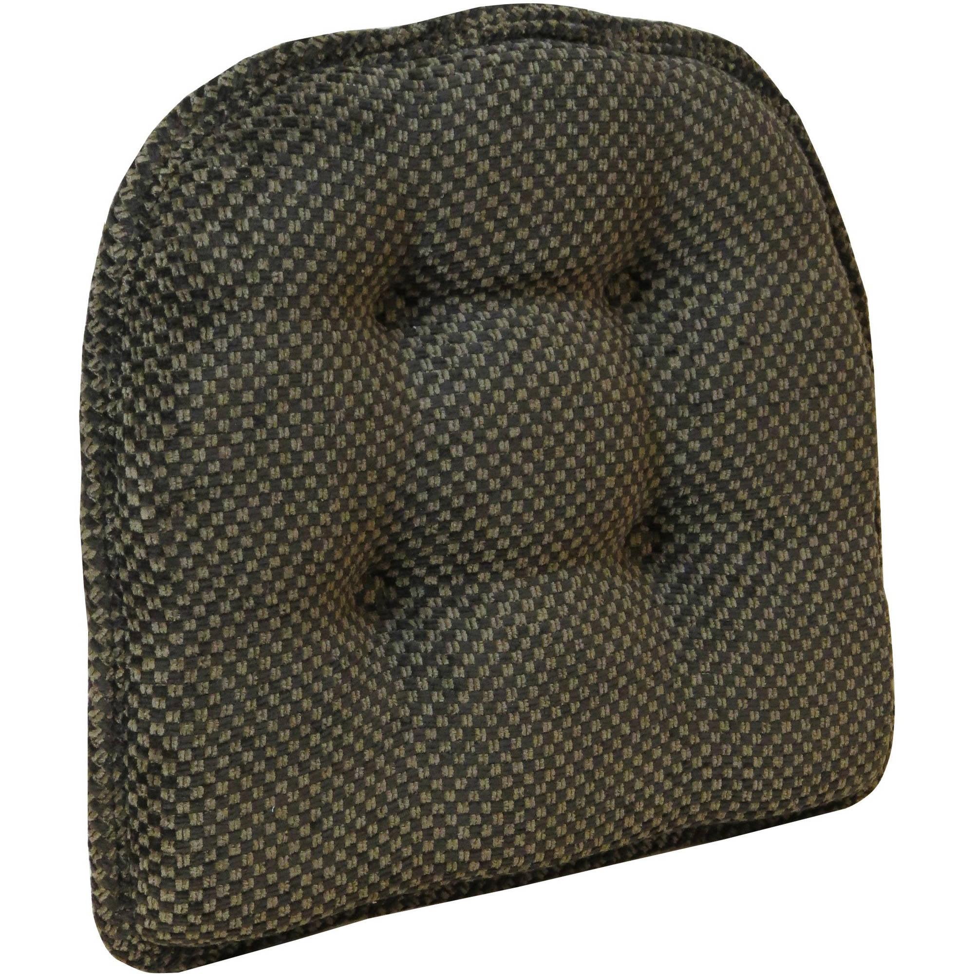 """Gripper Non-Slip 15"""" x 16"""" Brown Textured Chair Pad by Klear Vu"""