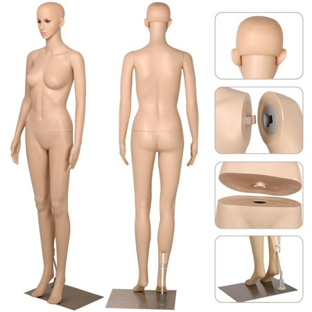 - Yaheetech Female Plastic Dress Form Mannequin Full Body with Metal Base, 68.9