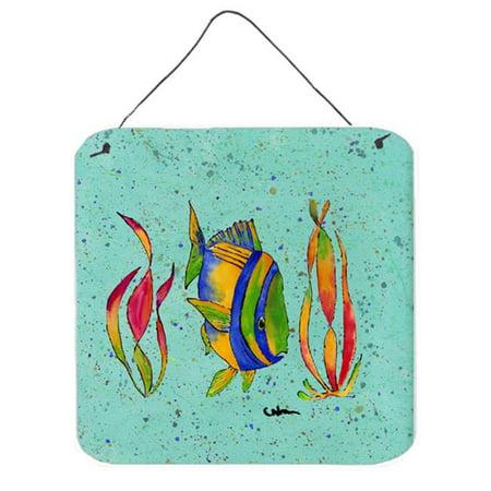 Tropical Fish Aluminium Metal Wall or Door Hanging