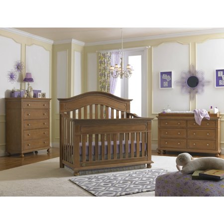 Dolce Babi Naples 4 In 1 Convertible Crib Harvest Brown