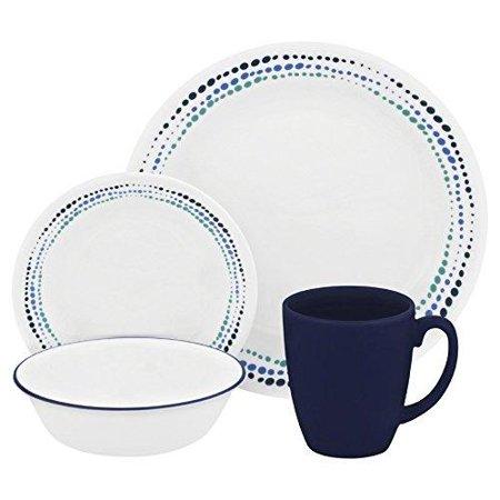 Corelle Livingware 11-Oz Dark Blue Stoneware Mug (Set of 4) (Coffee Cup Corelle)
