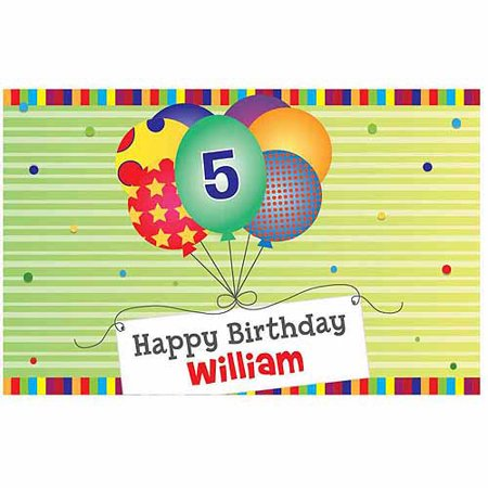 (Personalized Green Happy Birthday Placemat)