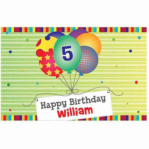 Personalized Green Happy Birthday Placemat