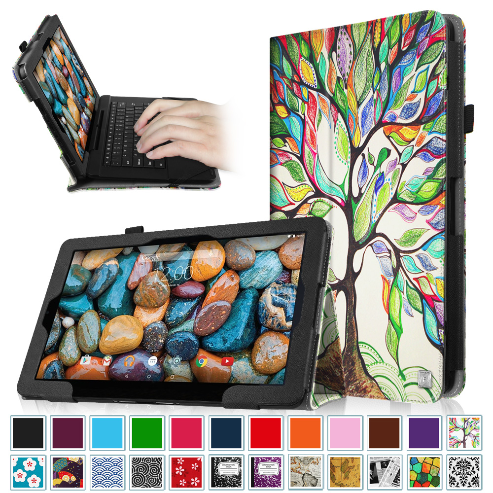 "Fintie Rca 11 Maven Pro 11.6"" (RCT6213W87DK) & RCA Cambio 11.6 inch (W116V2) Tablet Case Vegan Leather Cover, Love Tree"