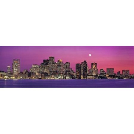 Panoramic Images PPI89469L USA  Massachusetts  Boston  View of an urban skyline by the shore at night Poster Print by Panoramic Images - 36 x 12 - image 1 of 1