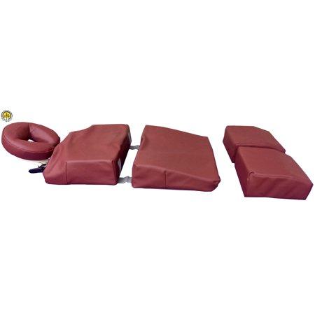 Pregnancy Massage Cushion And Headrest Full Body Bolster Full Body Bolster Package Burgundy
