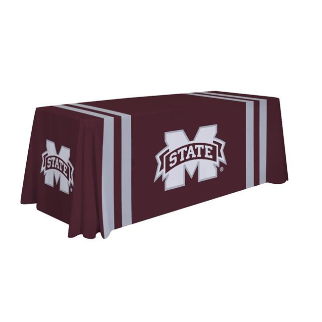 Victory Corps 810026MSST-002 6 ft. NCAA Mississippi State Bulldogs Dye Sublimated Table Throw - No.002