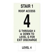 INTERSIGN NFPA-PVC1812(1GA4) NFPASgn,Roof Accss A,Flrs Srvd 1 to 4 G0265240