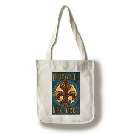 Louisville, Kentucky - Fleur de Lis - Lantern Press Artwork (100% Cotton Tote Bag - Reusable)