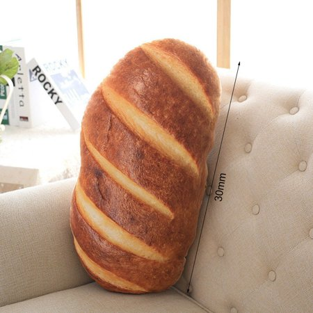 Funny Bread Pattern Pillow Soft Massage Neck Back Pillow PP Cotton Filler Health Care Pillow Comfortable Back Sofa Cushion - image 4 de 8