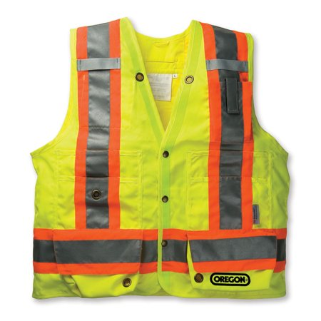 Oregon Reflective High Visability Yellow Surveyor Safety Vest Construction](Construction Vest For Kids)