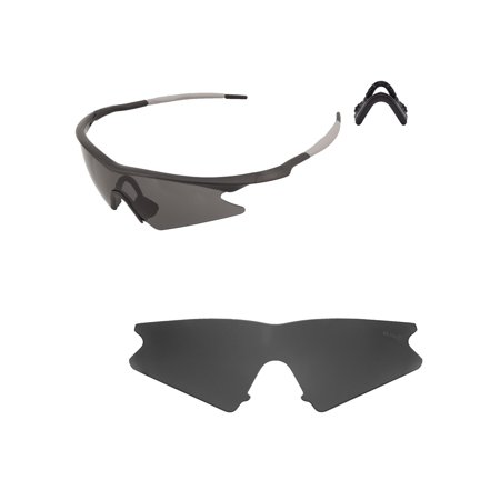 a44a0d553c Walleva Black Mr. Shield Polarized Replacement Lenses And Black Nosepad For Oakley  M Frame Sweep Sunglasses - Walmart.com