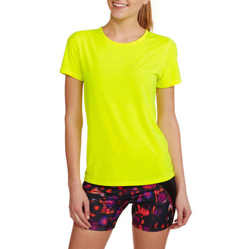 Danskin Now Women's Active Short Sleeve Performance Mesh T-Shirt