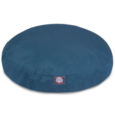 Majestic Pet Solid Round Dog Bed Treated Polyester Removable Cover Navy Blue Medium 36 x 36 x