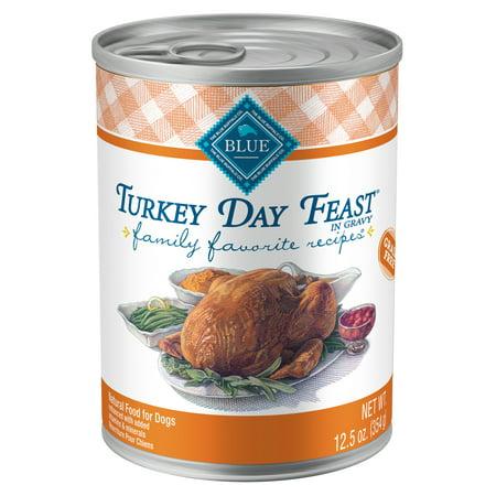 Blue Buffalo Family Favorites Turkey Day Feast Grain Free Wet Dog Food, 12.5-oz cans, Case of