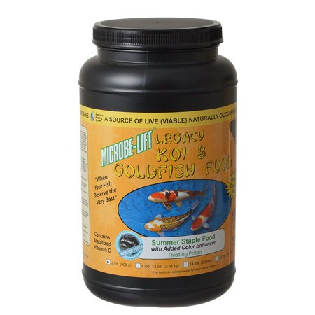 Microbe-Lift Legacy Koi & Goldfish Summer Staple Food 2 lbs - Pack of 4