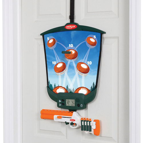 Majik Shot Over The Door Skeet Shooting with Interactive Target Mat