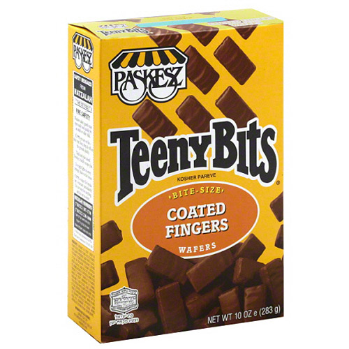 Paskesz Teeny Bits Coated Finger Wafer Cookies, 10 oz, (Pack of 12)