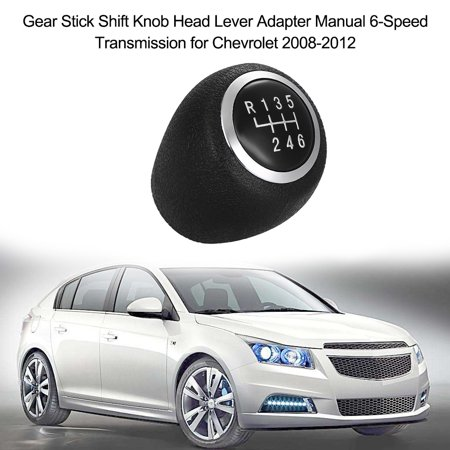 Gear Stick Shift Knob Head Lever Adapter Manual 6-Speed Transmission for Chevrolet 2008-2012 - image 3 of 7