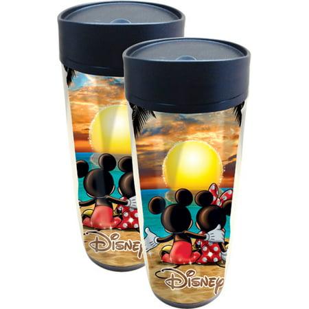Disney Sunset Mickey Mouse Minnie Mouse Travel Mug