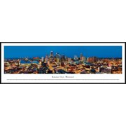 Kansas City, Missouri - Blakeway Panoramas Print with Standard Frame