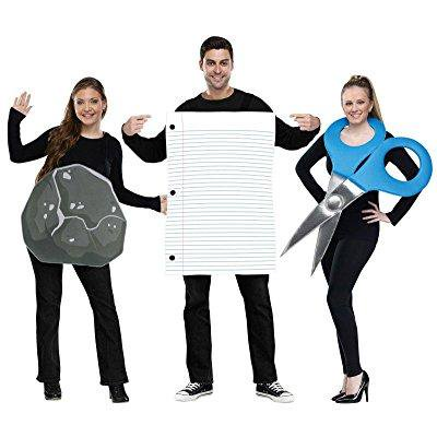 rock paper scissors costume set - standard - chest size 33-45 - Rock Paper Scissors Halloween Costumes