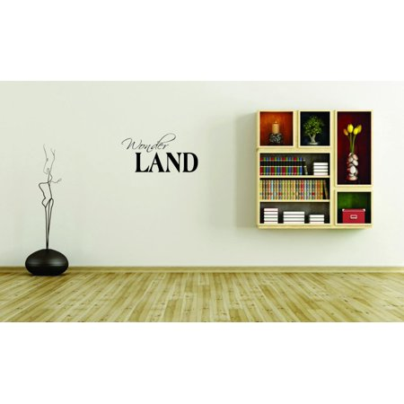 Custom Wall Decal Sticker - Wonderland Winter Seasonal Home Decor Picture Art 10x20 Inches (Winter Wonderland Decor)