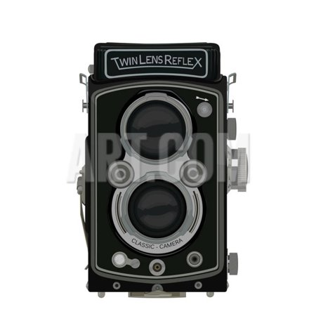 Old School Classic Tlr Camera Print Wall Art By