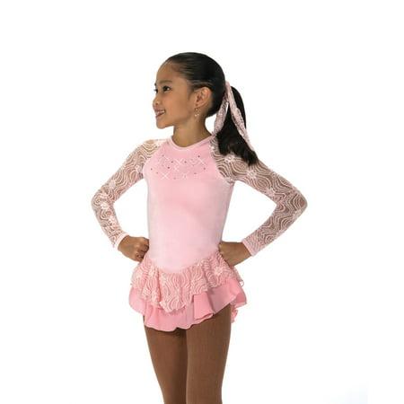 - Jerry's Ice Skating Dress 152 Ribbon Lace Dress - Pink