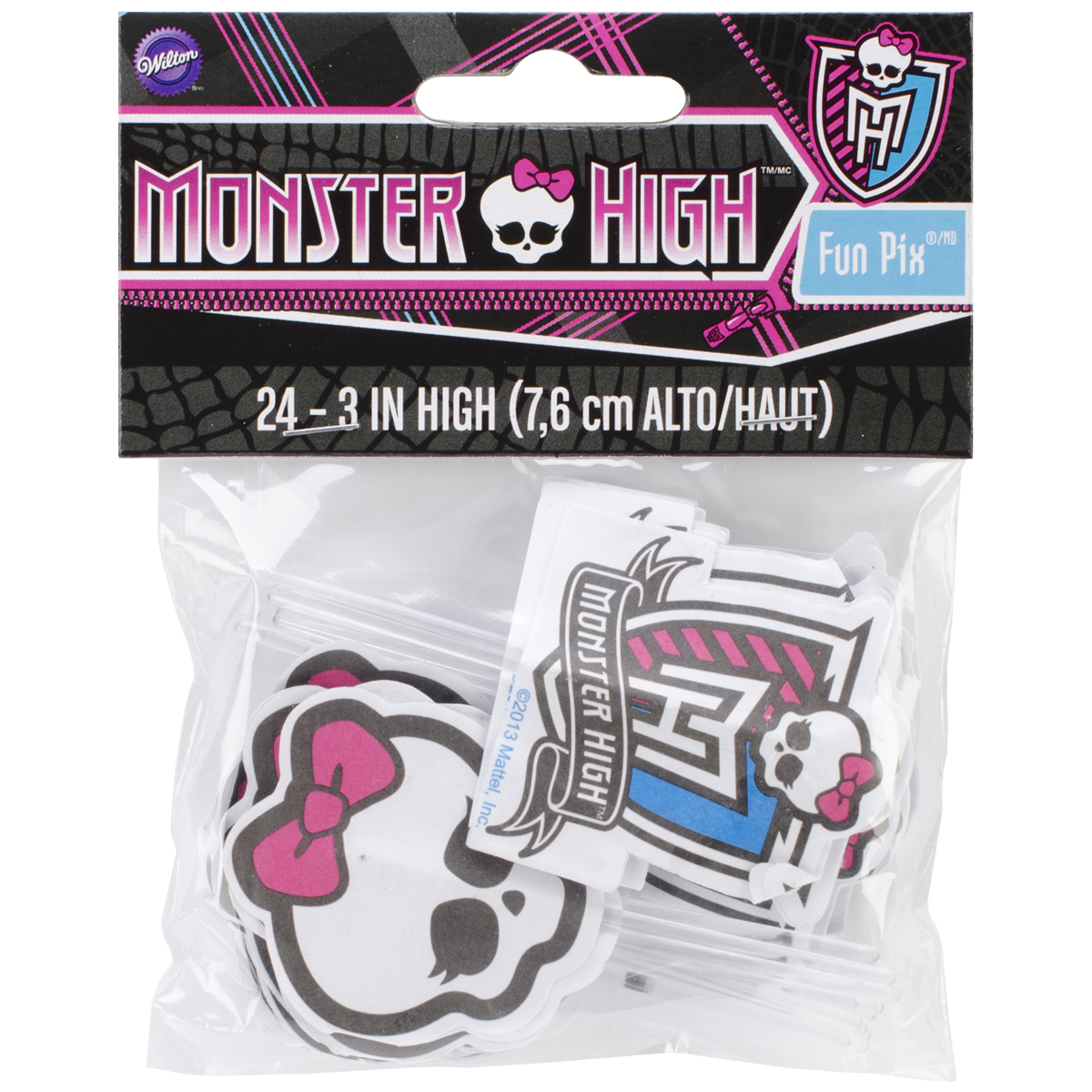 Wilton Decorating Fun Pix, Monster High 24 ct. 2113-6677