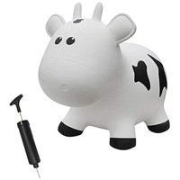 Farm Hoppers FHA1101 Inflatable Toddler Safe Bouncing Cow White