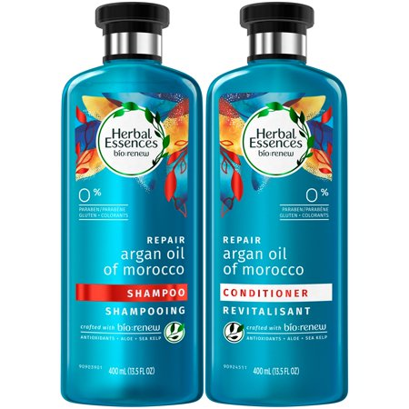 Herbal Essences Bio:renew Argan Oil of Morocco Shampoo and Conditioner Bundle Pack, 13.5 Fluid Ounces Each (Pack of