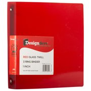 JAM Plastic 3 Ring Binder, 1 Inch, Red, 1/Pack