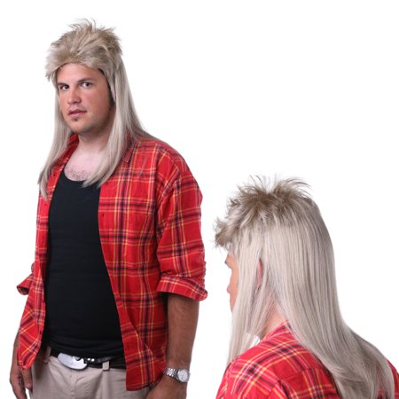 Sepia Costume Mullet Synthetic Wig Blonde
