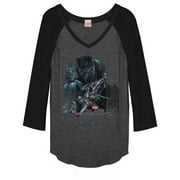 Junior's Marvel Black Panther 2018 Character View  Baseball Tee
