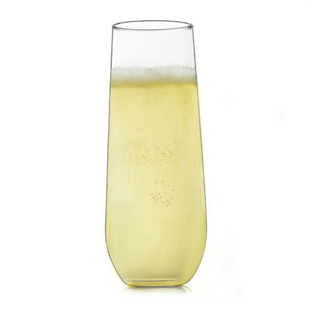 Libbey Stemless Champagne Flute Glasses, Set of 12 - Custom Champagne Flutes