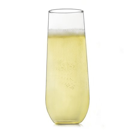 Libbey Stemless Champagne Flute Glasses, Set of 12](Champagne Beverage)