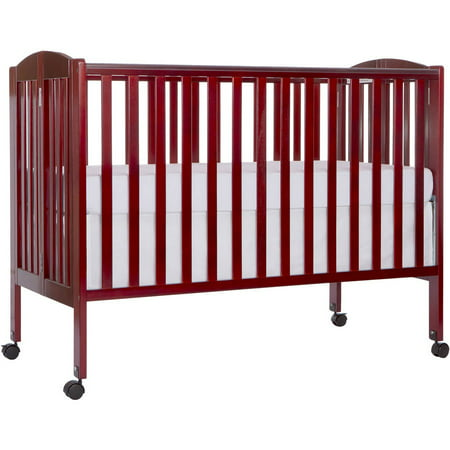 Dream On Me 2-in-1 Folding Full-Size Crib Cherry
