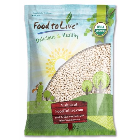 Organic Navy Beans, 5 Pounds - Dry White Small Kidney Pea Beans, Non-GMO, Kosher, Raw, Vegan, Bulk – by Food to Live ()