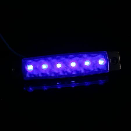 DC12V/24V 6 LEDs Side Marker Indicator Light Clearance Lamp SMD2835 IP65 Water Resistance for Truck Bus Trailer RV Car - image 7 de 7