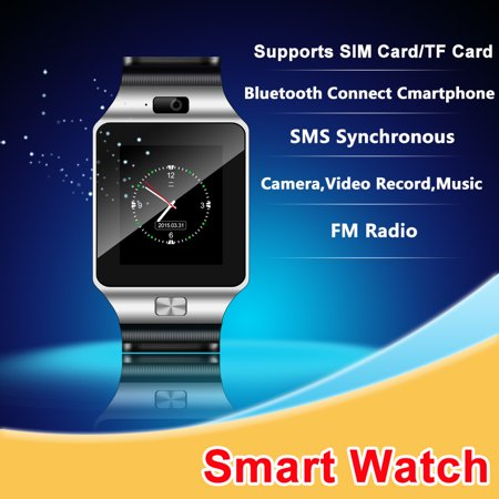 Bluetooth Smart Watch with HD Screen for Android & iOS with Camera
