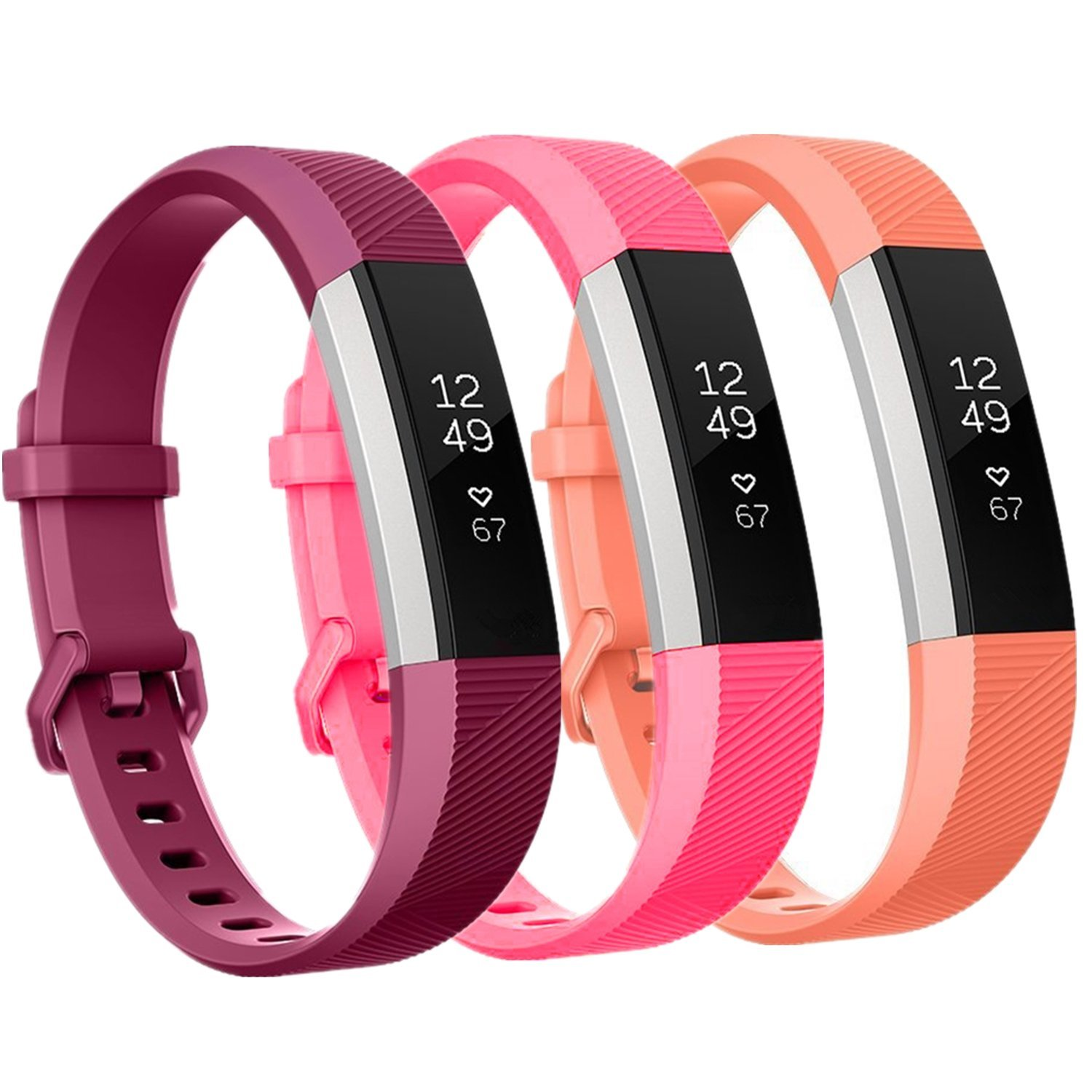 Moretek Bands Strap for Fitbit Alta   Fitbit Alta HR Tracker Wristband by