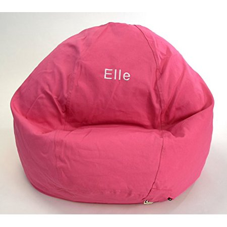 Bean Bag Chair Kid Size Personalized Embroidered Comfy Pink